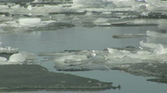 River Spring Ice HD Stock Footage