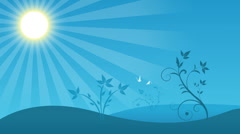 Spring background - stock footage