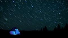 Tent starlapse Stock Footage