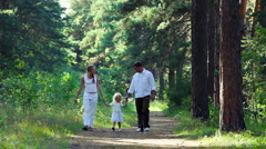 Family walking Stock Footage