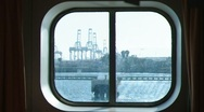 Stock Video Footage of Ship WIndow