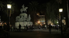 Salta Central Square Stock Footage