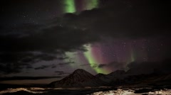 Northern lights - magnetic storm - stock footage