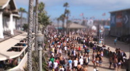 Tilt shift crowd US Open of Surfing Stock Footage