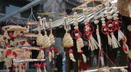 Chinese gifts and crafts at a market  Stock Footage