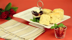 Scones On Tray Stock Footage