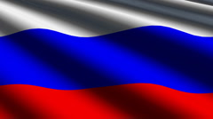 Russia flag close up - stock footage