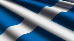 Scotland flag close-up Stock Footage