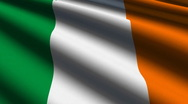 Ireland flag close-up Stock Footage