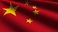 China flag close-up Stock Footage