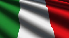 Italy flag close-up Stock Footage