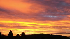 Beautiful Sunrise Aroma in the Clouds - Time Lapse - stock footage