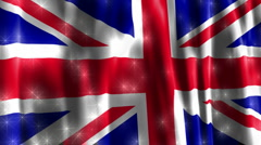 Union Jack British Sparkling Flag Stock Footage