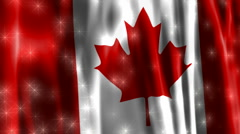 Canada Sparkling Flag Stock Footage