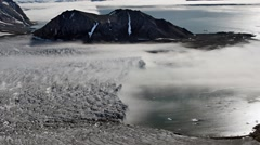 Fog over the Arctic glacier Stock Footage
