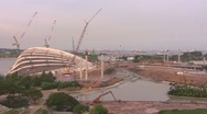 Stock Video Footage of construction work timelapse singapore asia