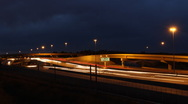 Interstate Highway Night Timelapse Stock Footage