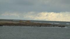 Coastline on the island Gotland in the Baltic sea Stock Footage