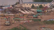 Stock Video Footage of Asian construction work  singapore