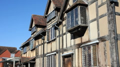 Shakespeare's birthplace Stratford upon Avon  Warwickshire England UK - stock footage