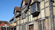 Stock Video Footage of Shakespeare's birthplace Stratford upon Avon  Warwickshire England UK