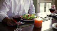 Young couple toasting and drinking wine Stock Footage