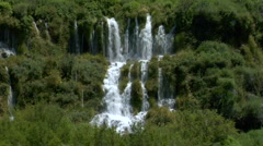 Thousand Springs Aquifer Waterfalls - stock footage