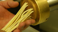 Chef makes fresh spaghetti pasta - stock footage