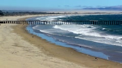 Pier at Beach  Stock Footage