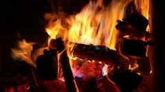 Fire Burning with Rainbow of Colors Stock Footage