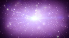 Starfield supernova background Stock Footage