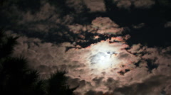HD - fast TL - Eerie full moon with clouds in timelapse Stock Footage