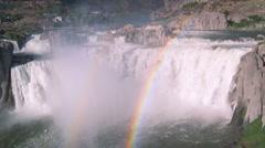 Shoshone Falls Rainbow 39 Stock Footage