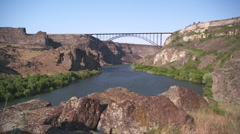 Perrine Bridge Snake River Canyon 47 - stock footage