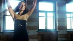 Girl dancing Stock Footage