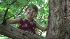 Little girl playing Stock Footage