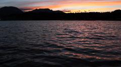 Beautiful Lake at Sunset Stock Footage