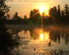 Morning lake2 Stock Footage