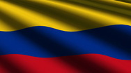 Colombia flag close up Stock Footage