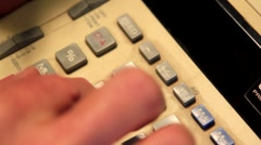 ADDING MACHINE Stock Footage