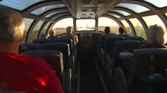 Railroad, riding the dome car Stock Footage