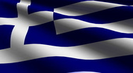 Greece flag close-up Stock Footage