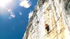 Climbing Man Stock Footage