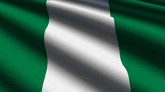 Nigeria flag close-up Stock Footage