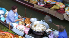 Floating Restaurant in Thailand Stock Footage