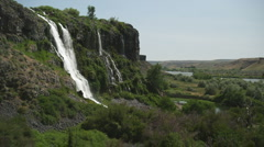 Thousand Springs Waterfall 163 Stock Footage