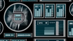 Animated Knobs Meters and Dials - With Alpha - stock footage