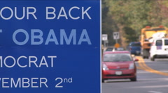 President Obama sign (Tight Shot)  Stock Footage