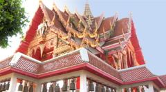 Ornate Temple in Thailand Stock Footage