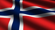 Norway flag close up Stock Footage